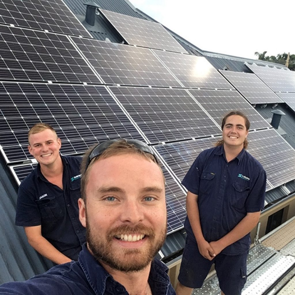 Solar installation team