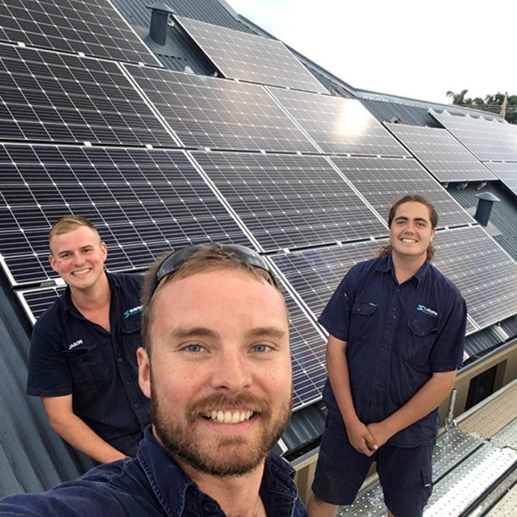 Solar installation team